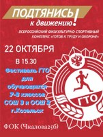 Фестиваль ГТО для обучающихся 7- 8 классов СОШ №3 и ООШ №2 г. Козельска